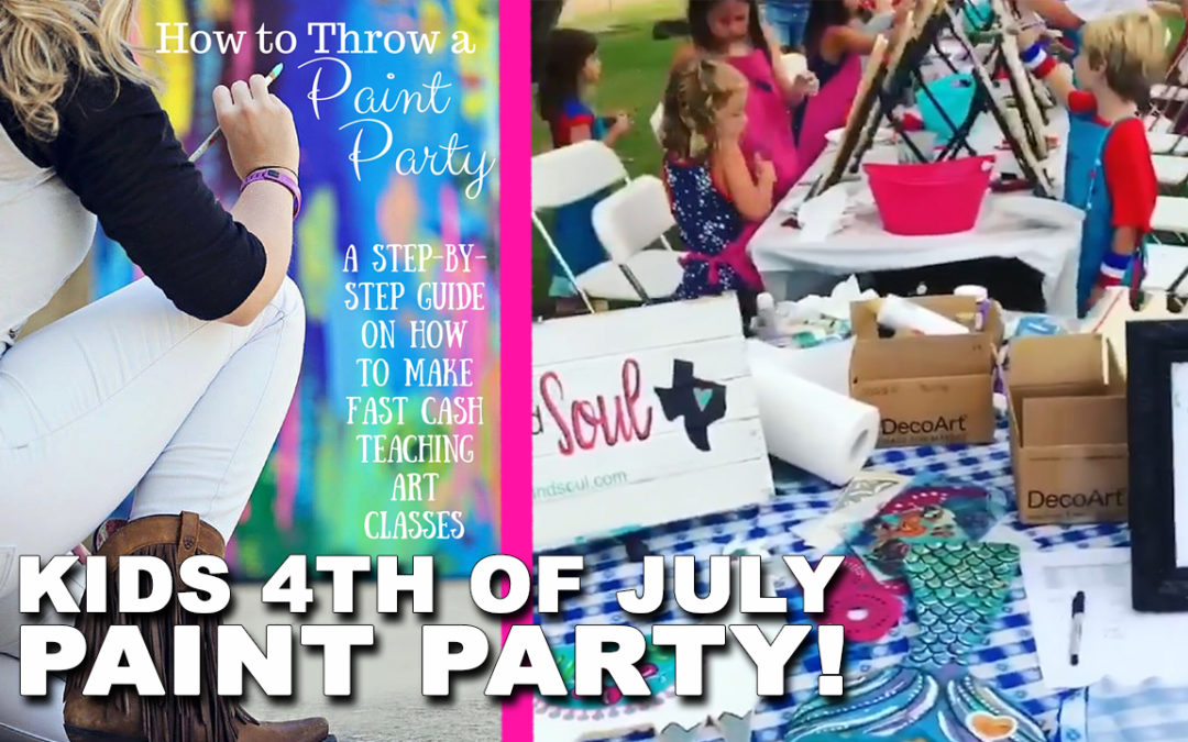 Kids 4th of July Paint Party!