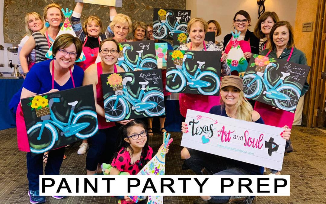 Paint Party Prep