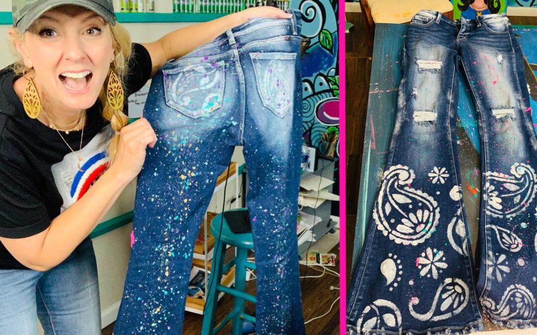 Splatter Paint Tiger King Mistake Jeans!