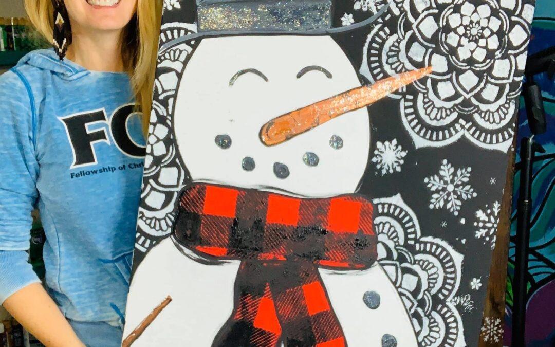 Easy Snowman in 3 Steps!