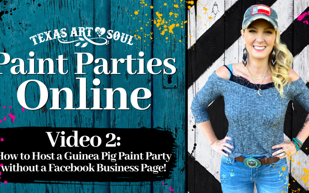 How to Teach a Paint Party Online {Create a Facebook Group}