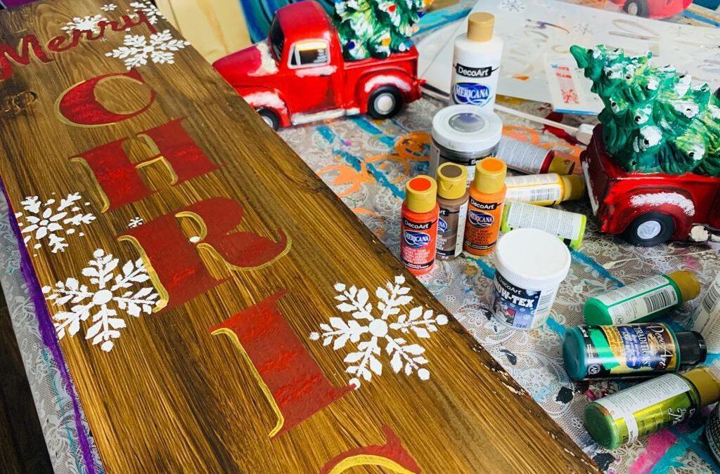 DIY Merry Christmas Porch Sign {Video}