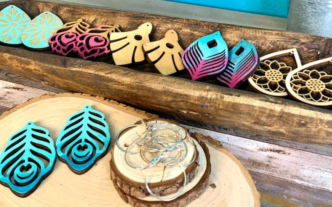 DIY Painted Wood Earrings