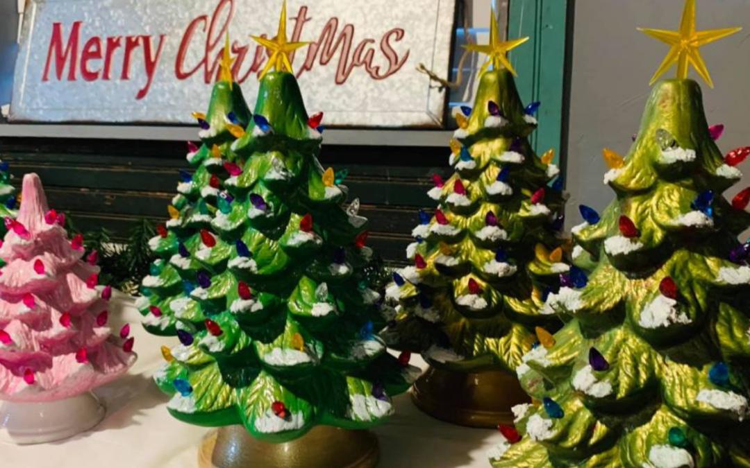 Vintage Ceramic Christmas Tree Paint Party
