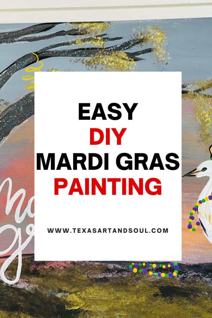 Mardi Gras Landscape Painting Pin for Pinterest