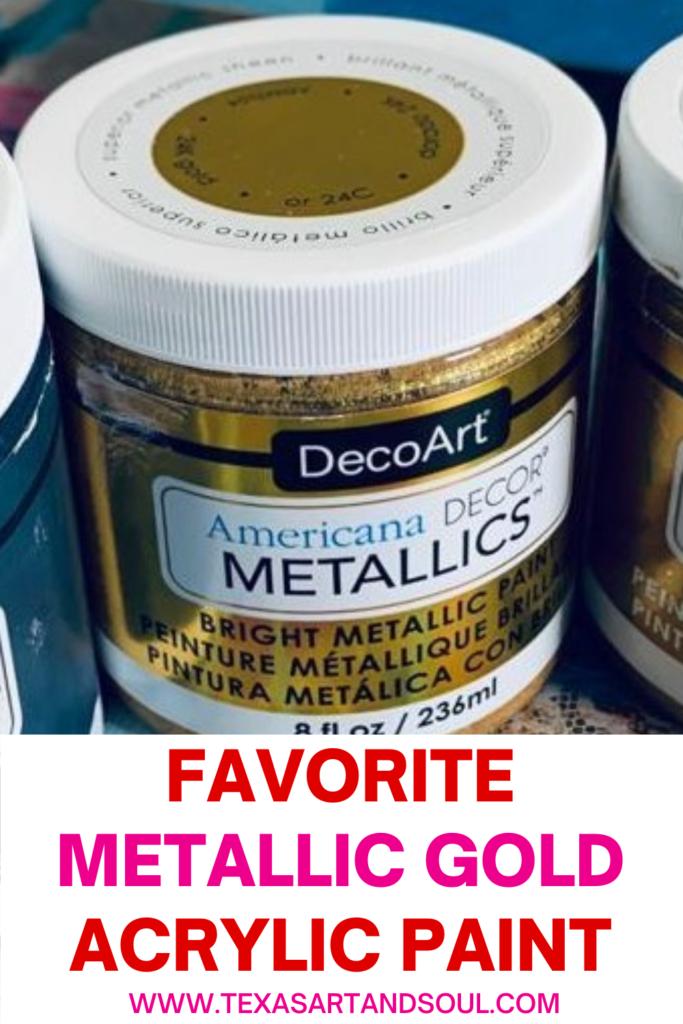 favorite metallic paint pin for pinterest