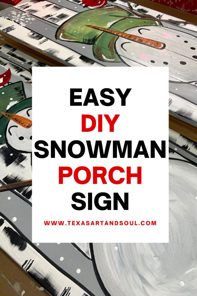 Easy DIY Snowman Porch Sign