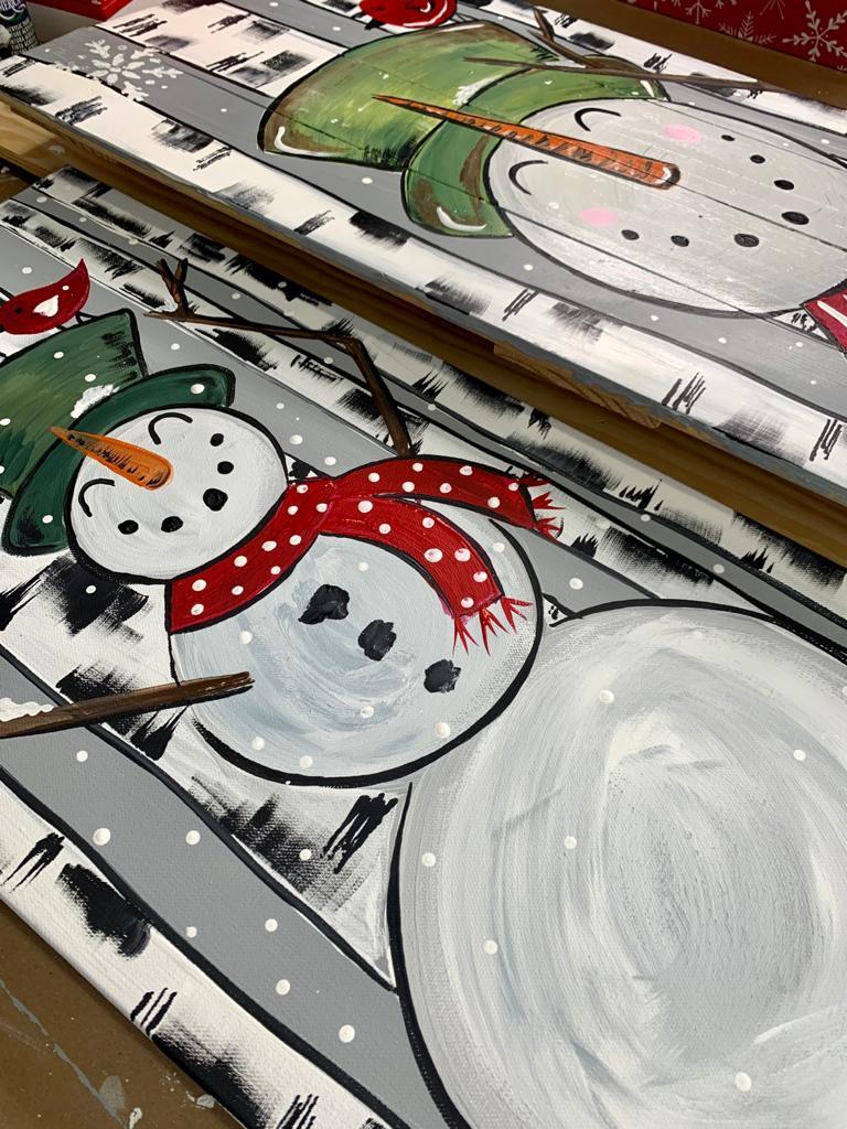 snowman porch sign