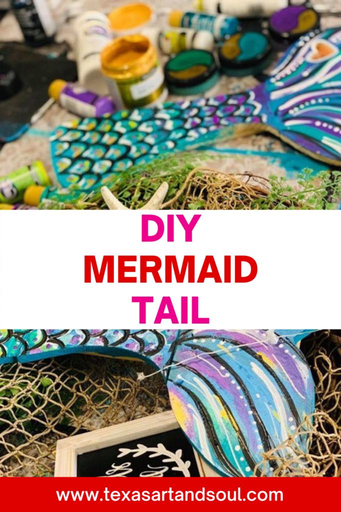 DIY mermaid tail painting