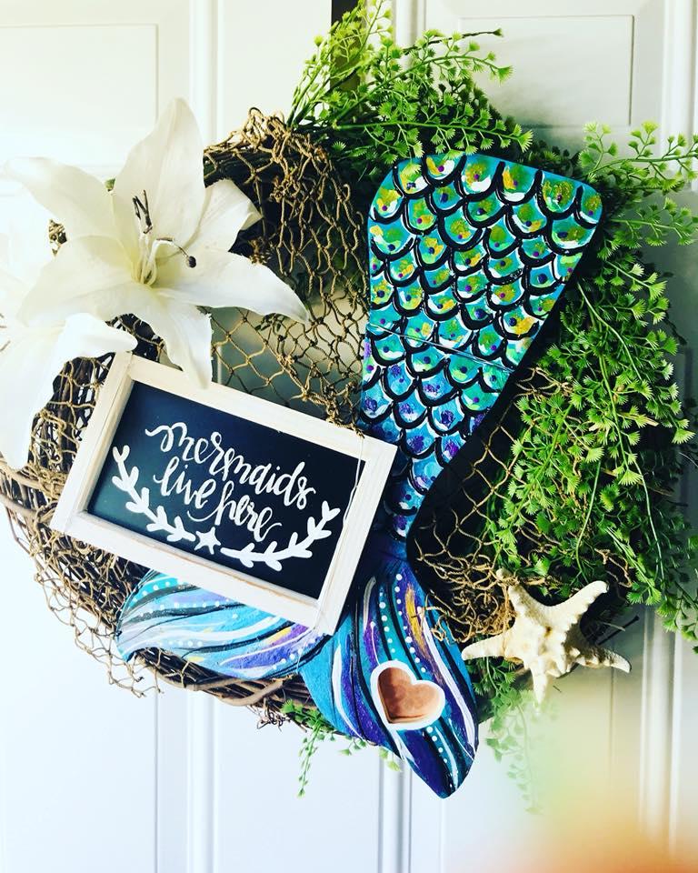 mermaid tail wreath