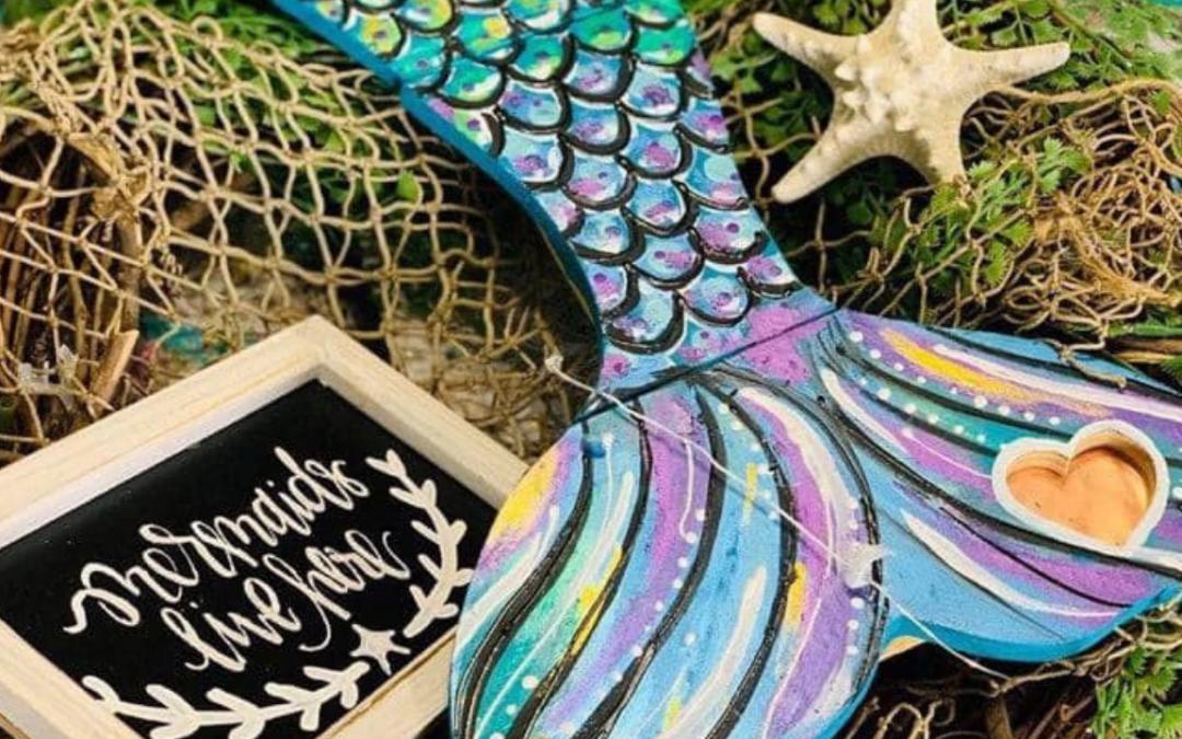 Mermaid Tail Painting (Easy Painting Idea!)