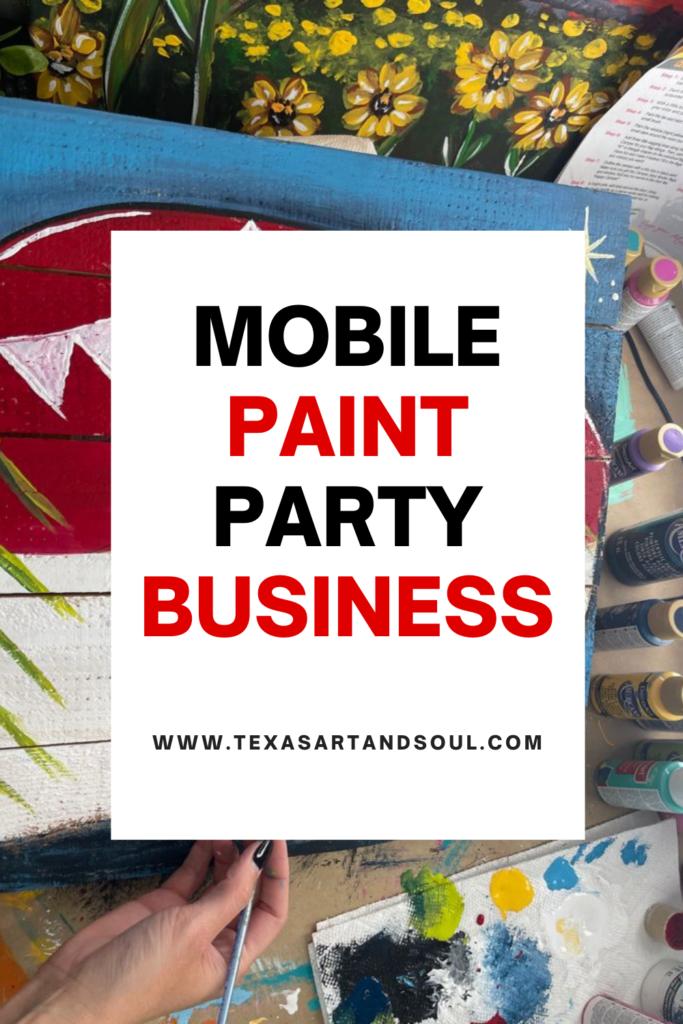 Mobile paint party business Pinterest image