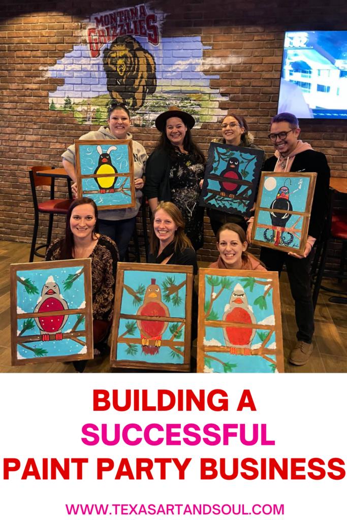 building a successful paint party business