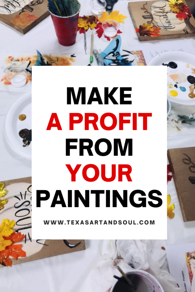Make a profit from you paintings pin for pinterest
