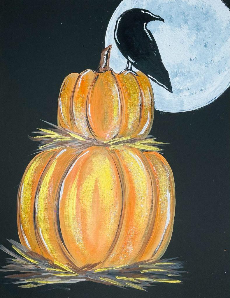 acrylic pumpkin painting