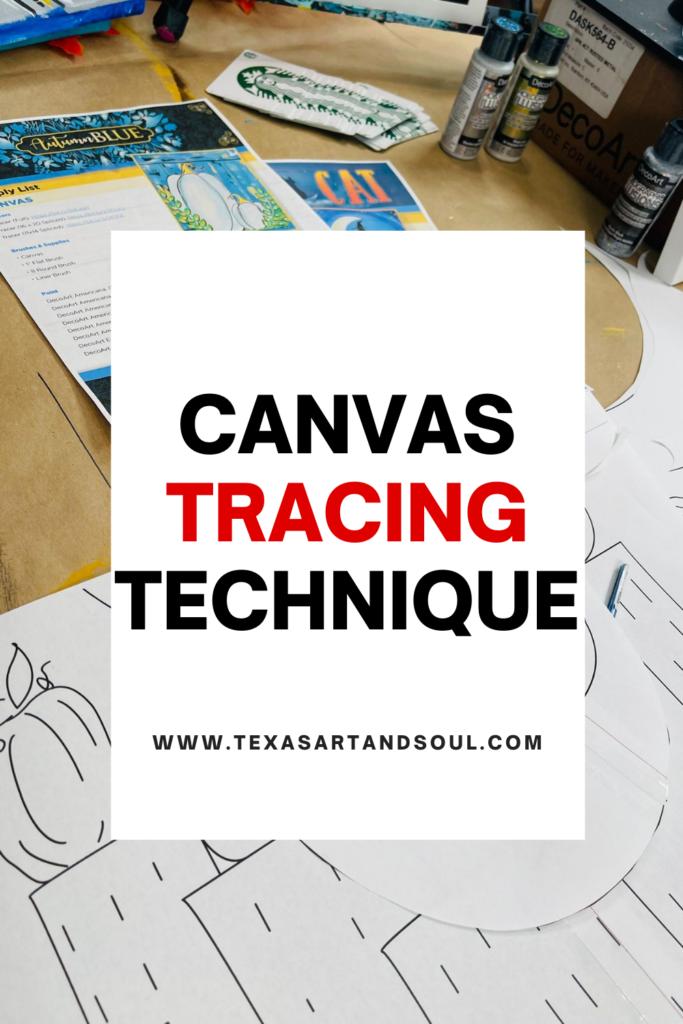 Canvas tracing technique pinterest image
