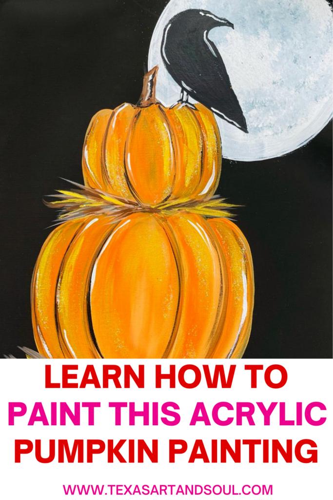 acrylic pumpkin painting pinterest image