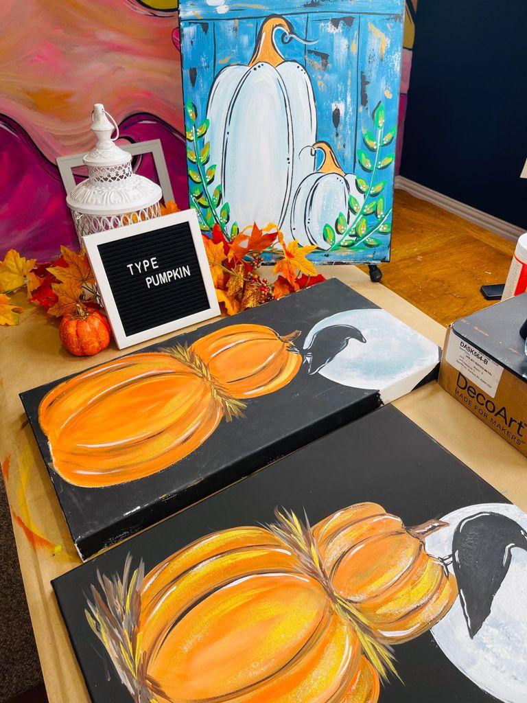 acrylic pumpkin paintings