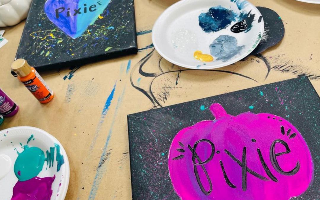 Splatter Paint Idea {Perfect for Kids' Painting Parties}